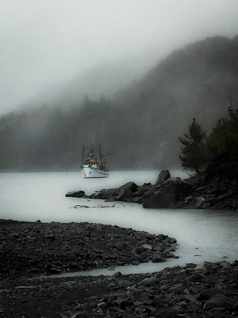 Waiting Off Harriman Glacier