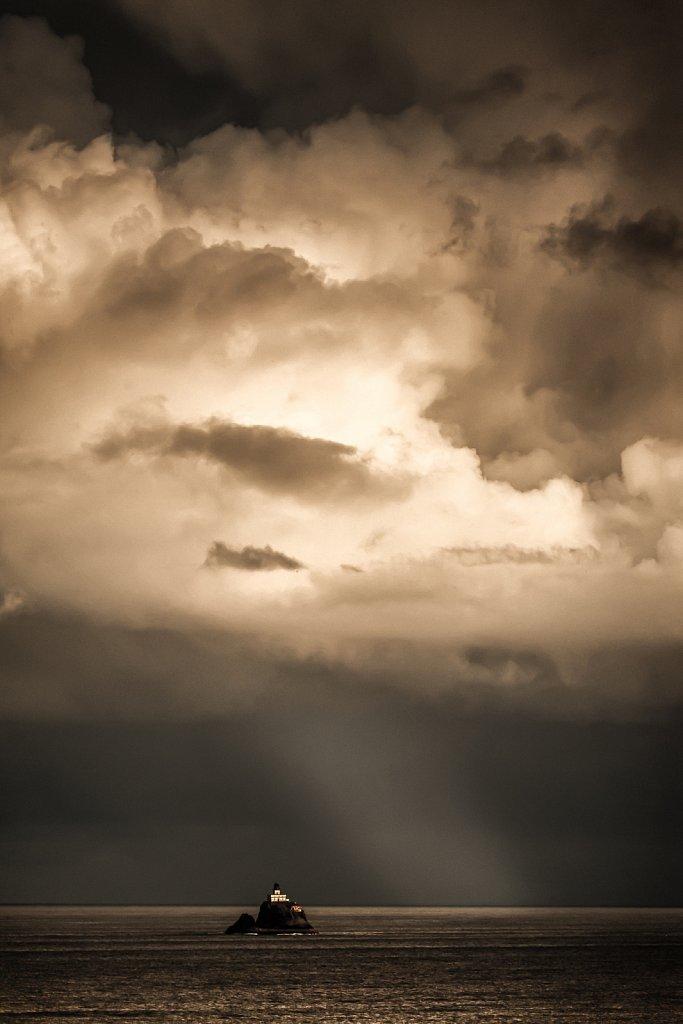 Thunderstorm over Tillamook Rock Lighthouse, Oregon